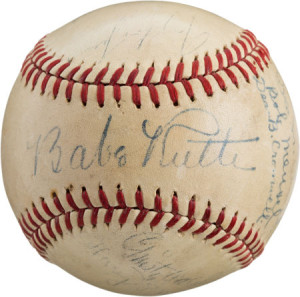 Heritage Auctions 1942RuthBaseball